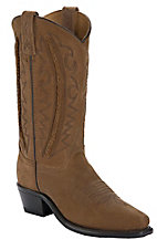 Abilene® Men's Tan w/ Lace Braided Shaft Snip Toe Western Boots