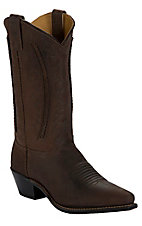 Abilene® Ladies Brown with Laced Shaft Snip Toe Western Boots