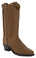 Abilene® Ladies Tan w/ Lace Braided Shaft Snip Toe Western Boots