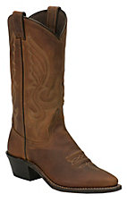 Abilene Ladies Distressed Brown Snip Toe Western Boots