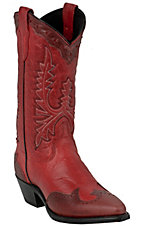 Abilene Boot Company� Ladies Mad Dog Red w/ Red Wingtip Snip Toe Western Boots