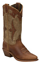 Abilene® Ladies Brown Distressed Snip Toe Western Boots