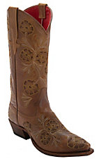 Anderson Bean Macie Bean Whiskey Bent w/ Brown Floral Embroidery Snip Toe Boots