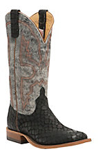 Anderson Bean Men's Black Loch Ness w/ Midnight Monet Double Welt Square Toe Western Boot