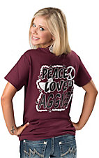 Girlie Girl Originals® Ladies Peace, Love & Aggies Tee