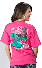 Girlie Girl® Ladies Pink If I Can't Wear My Boots I Ain't Goin Short Sleeve Tee