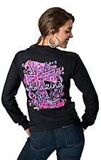 Girlie Girl® Women's Black with Cross Amazing Grace Long Sleeve Tee