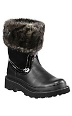 Ariat® Fatbaby™ Ladies Black w/ Faux Fur Top Western Boot