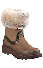 Ariat® Fatbaby™ Ladies Distressed Brown w/ Faux Fur Top Western Boot