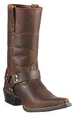 Ariat Hollywood Ladies Powder Brown Snip Toe Harness Boot
