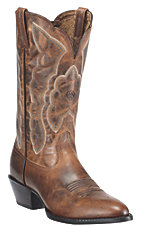 Ariat� Ladies Sassy Distressed Brown Heritage R-Toe Traditional Toe Western Boots