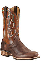 Ariat® Regulator™ Men's Rolling Brown Double Welt Chip Toe Western Boot