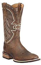 Ariat® Freedom™ Men's Earth Brown Bomber Double Welt Wide Square Toe Western Boots