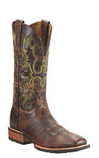 Ariat Tombstone Men's Weathered Chestnut Brown Square Toe Western Boot