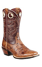 Ariat® Crossfire™ Men's Burnished Tan w/ Purple Sage Double Welt Square Toe Western Boot