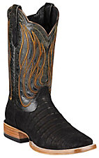 Ariat® Nitro™ Mens Roughout Black Caiman Belly Double Welt Square Toe Western Boot