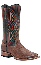 Ariat® Nitro™ Mens Barnwood Brown Full Quill Ostrich Double Welt Square Toe Western Boot