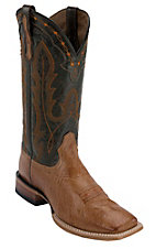Ariat® Ranchero™ Mens Barnwood Brown Smooth Quill Ostrich Double Welt Square Toe Western Boot