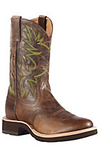 Ariat Mens Weathered Chestnut Heritage Crepe Sole Round Toe Boot