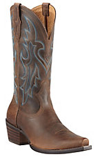 Ariat® Heritage Western™ Men's Distressed Brown Snip Toe Western Boots