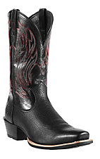 Ariat® Hotshot™ Men's Buckboard Black Square Toe Western Boots