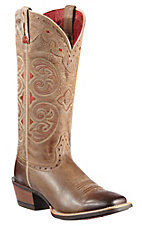 Ariat Madrina Ladies Dark Macchiato Brown Square Toe Western Boot