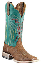 Ariat® Mesteno™ Ladies Topaz Snake Print w/ Clear Water Blue Top Square Toe Western Boot