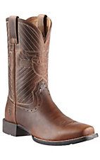 Ariat Warbird Mens Powder Brown Double Welt Punchy Square Toe Western Boots