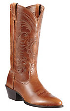 Ariat Ladies Magnolia Vintage Caramel Heritage R-Toe Traditional Toe Western Boots