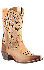 Ariat® Paloma™ Women's Oak Barrel w/ Scrolling & Studs Snip Toe Western Boot