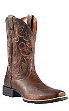 Ariat Reinsman Men's Weathered Chesnut Heritage Double Welt Punchy Square Toe Western Boots