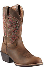 Ariat Men's Distressed Brown Brumby Sport Round Toe Western Boots