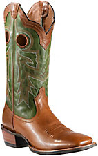 Ariat Wildstock Men's Barnwood w/Green Top Double Welt Square Toe Western Boots