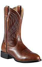 Ariat Heritage Stockman Men's Coyote Brown Round Toe Western Boots