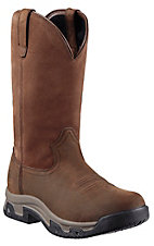 Ariat Terrain Distressed Brown Waterproof Multi-Purpose Round Toe Work Boot