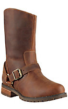 Ariat Women's Distressed Tan H2O Halee Zipper Round Toe Harness Boots