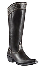 Ariat Sahara Women's Old West Black Snip Toe Tall Boots