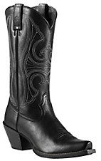 Ariat Round Up Women's Mustang Black Snip Toe Western Boot