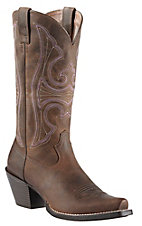 Ariat� Round Up? Women's Distressed Brown Snip Toe Western Boot