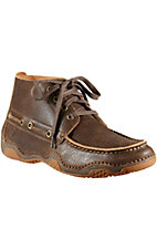 Ariat Holbrook Men's Distressed Weathered Wood Brown Driving Moc Casual Shoe