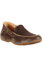 Ariat Gleeson Men's Weathered Wood Brown Driving Casual Shoe