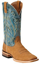 Ariat Ranchero Mens Razor Tan w/ Agua Dulce Top Square Toe Western Boot