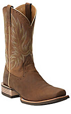 Ariat Crossbred Men's Distressed Brown Square Toe Western Boots