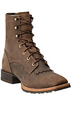 Ariat Men's Distressed Brown Hybrid 8in Lace Up Work Boot