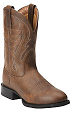 Ariat Sport Men's Vintage Bomber Brown Round Toe Western Boot