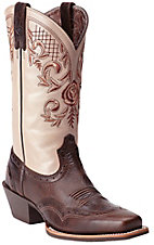 Ariat� Terrace Acres? Women's Chocolate Chip w/ Champagne Rose Top Punchy Square Toe Western Boots