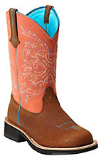 Ariat Women's Tanned Copper w/ Peach Top Cowgirl Tall Fatbaby Western Boot