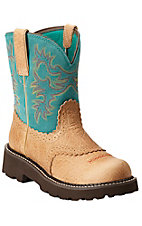 Ariat� Fatbaby? Women's Tan Buffalo with Teal Top Boots
