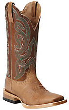 Ariat Antonia Women's Tan with Sassy Brown Top Square Toe Western Boots