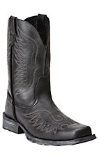 Ariat Rambler Phoenix Men's Black Pepper Wide Square Toe Western Boots